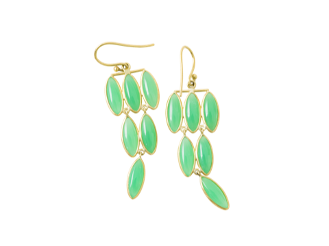 Chrsoprase Fern Chandelier Earrings